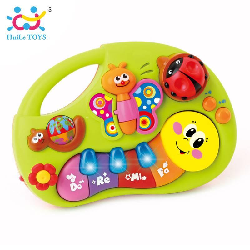 HUILE SPEELGOED 927 Baby Speelgoed Leren Machine Speelgoed met Verlichting & muziek & Leren Verhalen