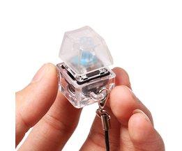 Druk/Klik Fidget Gadget Mechanische Toetsenbord Tester LED Schakelaar Fidget Knop Sleutelhanger/Keyclickvoor Computer Geeks ADHD speelgoed