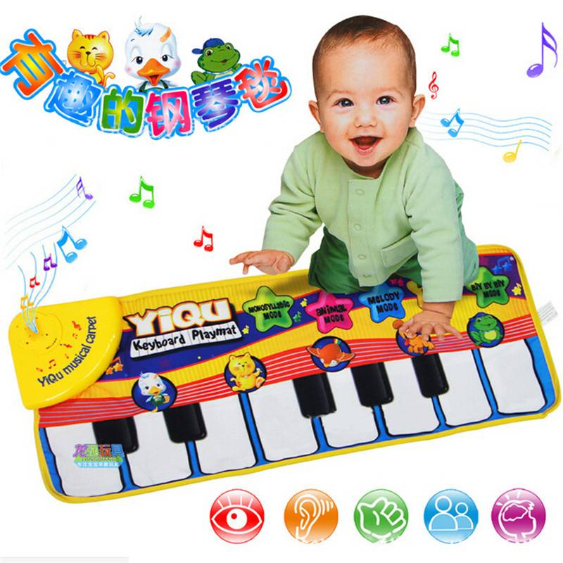 Muziek tapijt baby mat muziek educatief baby kidschild piano mat 72*29 cm platte Speelgoed Muziekins