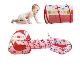 Draagbare Zwembad-Buis-Teepee Baby Play Tent Huis Opvouwbare 3 st Pop-up Kruipen Tunnel Oceaan Bal spelen Tent Kids Secret Huis