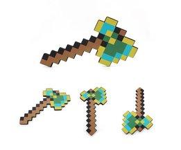 Minecraft Foam Speelgoed Multicolour Minecraft Axe Zwaard Pickaxe EVA Actiefiguren Speelgoed Geschenken voor Kids Outdoor Fun