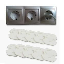 MyXL 10 stks Baby Veiligheid Draaien Cover 2 Gat Ronde Europese Standaard Kinderen Tegen Elektrische Bescherming Socket Plastic Security Sloten