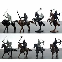 MyXL 28 STKS Middeleeuwse Ridders Warriors Paarden Kids Speelgoed Soldaten Cijfers Model Playset spelen op zand castles
