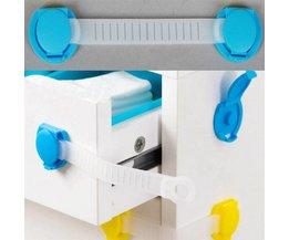 10 stks/partij Veiligheid baby kinderen bescherming deur lade baby veiligheid product kast locl uit kinderen plastic lock