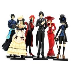 MyXL Anime Kuroshitsuji Black Butler Set 6x Characters Action Figure Model Pop