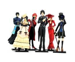 Anime Kuroshitsuji Black Butler Set 6x Characters Action Figure Model Pop