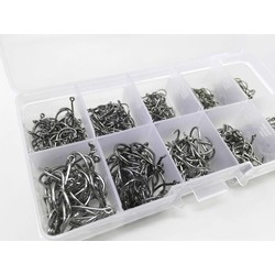 MyXL Rompin 500 stks/set gemengde size #3 ~ 12 koolstofstaal karpervissen haken pack met gat met Retail originele doos Jigging Aas