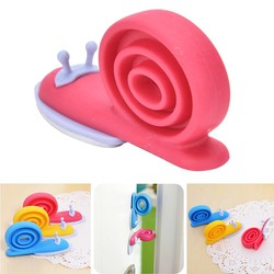 MyXL Leuke Kawaii EVA Plastic Baby Veiligheid Deurstopper Protector Kinderen Kid Safe Slak Vorm Deur Stopt Babyverzorging Willekeurige Kleur