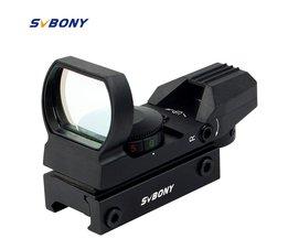 20mm Rail Riflescope Jacht Airsoft Optics Scope Holografische Red Dot Sight Refle x 4 Richtkruis Tactical Accessoires SVBONY F9128