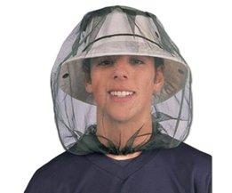 Midge Mosquito Insect Hat Vissen Bug Mesh Hoofd Netto Gezicht Protector Travel Camping