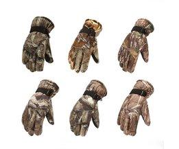 Waterdichte Winter Jacht Handschoenen Camuflage Volledige Vinger Ademende Geïsoleerde Tactische Handschoen Voor Schaatsen Motorfietsen