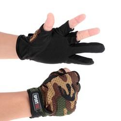 MyXL Antislip Ademend 3 Lage Cut Vingers Jacht Handschoenen Vissen Handschoenen Lichtgewicht Beschermende Camouflage Rijden Tactische Handschoenen