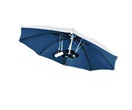 Blauw Opvouwbaar Hoofddeksels Parasol Vissen Wandelen Strand Camping Hoofddeksels Cap Hoofd Hoeden Outdoor Sport Paraplu Hoed Cap