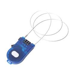 MyXL 3 Voeten Intrekbare Combinatie Kabelslot Voor Bike Bagage Blauw