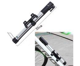 Inflator Bike Pomp Aluminiumlegering MiniPortable Fietsband Pomp Ultralight Fietsen Luchtpomp Zilver Kleur Voor Bike