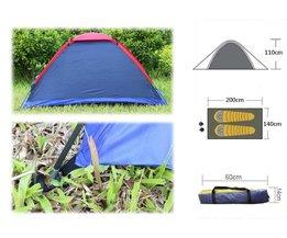 Twee Persoon Waterbestendigheid Outdoor Camping Tent Kit Professionele Fiberglass Pole Tent Met Draagtas Voor Wandelen Reizen