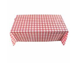 Rechthoek Tafelkleed Rode Raster 160x160 cm Tafelkleed Thee Tafelkleed Keuken Tafelkleed En Multipurpose Doek