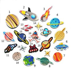 MyXL 20 stks/set Borduurwerkflarden Outer Space Planet Patroon Naaien Patches Iron Patches Badges Sticker Voor T-Shirt Jeans Kleding