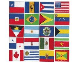 Meer dan 200 landen patch/10 STKS batch borduurwerk vlag, goede kwaliteit lage prijzen kan accepteren maatwerk