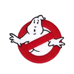 MyXL 1 Stks Ghostbusters Patch Geborduurde Ijzer op Ghost Buster Badge Movie GEBORDUURDE 7.6*6.6 cm