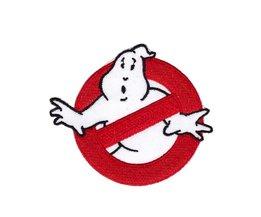1 Stks Ghostbusters Patch Geborduurde Ijzer op Ghost Buster Badge Movie GEBORDUURDE 7.6*6.6 cm