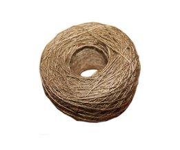natuurlijke jute touw 1mm Zachte 100 M Natuurlijke Getextureerde Hessische Jute Twine geschenkdoos String Touw Bloemen Craft Wedding Tags Wrap Deco
