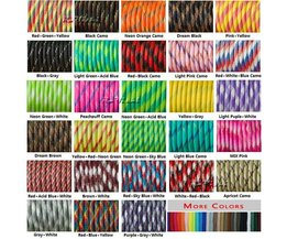 1 stks 100FT 550 Paracord Parachute Cord Lanyard Mil Spec Type III 7 Strand Core Voor Klimmen Camping Buckles Armband 108 kleuren