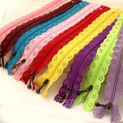 MyXL 25 cm willekeurige kleur 10 stks/partij ritsen kant nylon afwerking rits voor naaien jurk AA7454
