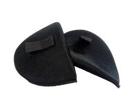 2 Pairs Zwart Shirt Spons Schoudervullingen met Sticker Doek Encryptie Pads voor Blazer/Tshirt Kleding Naaien Accessoires