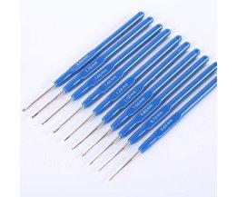 10 Stks/set Breinaalden Plastic Naalden Handvat haaknaald Breien Knit Naald Weave Garen haaknaalden haak set