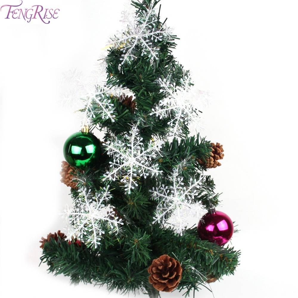 FENGRISE 30 stks Kunstmatige Wit Sneeuwvlok Decoratie Kerstboom Ornamenten Party Holiday Xmas Home D