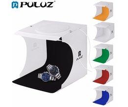"PULUZ 8 ""2LED Panelen Vouwen Draagbare Foto Video Box Verlichting Studio Schieten Tent Box Kit Emart Diffuse Studio Softbox lightbox"