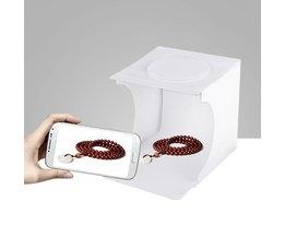 Draagbare LED Licht Vouwen Lightbox Fotografie Fotostudio Softbox Verlichting Kit Light Box voor DSLR Camera Achtergrond