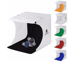 """PULUZ 20*20 cm 8 """"Mini Vouwen Studio Diffuse Soft Box Met LED Licht doos Zwart Wit Achtergrond Fotostudio Accessoires"""
