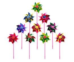 10 Stks Plastic Windmolen Pinwheel Wind Spinner Kids Speelgoed Tuin Gazon Party Decor SpeelgoedVoor Jongens Meisjes Baby