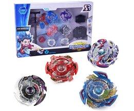 4 stks/set Originele Bey blade Arena Spinning Tops Speelgoed Fusion Geschenken Speelgoed voor Kinderen Verjaardag Kerst Verjaardag