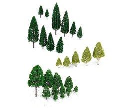 KOOP 27 stks Landschap Layout Landschap Trein Model Bomen 3-16 cm 3-Type