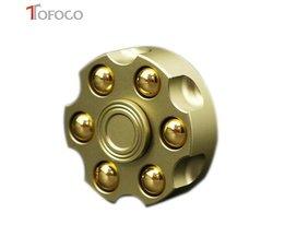 TOFOCO Fidget Spinner Metalen Revolver Figet Spinner Voor Hand SpinnerCube ANTI Stress Vinger Spiner Spynner
