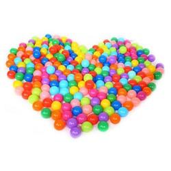 MyXL 100 stks Kleurrijke Plastic Ballen Grappig Speelgoed Zachte Oceaan Bal Ballen voor De Zwembad Baby Swim Pit Speelgoed Outdoor Stressbal ballonnen