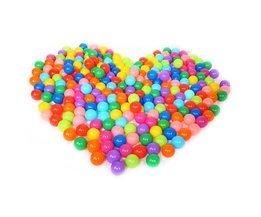 100 stks Kleurrijke Plastic Ballen Grappig Speelgoed Zachte Oceaan Bal Ballen voor De Zwembad Baby Swim Pit Speelgoed Outdoor Stressbal ballonnen