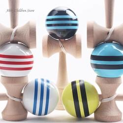 MyXL 18.5 cm gestreepte kendama kleurrijke geschilderd educatief houten toys bal bekwame game jongleren balvoor kinderen kinderen speelgoed