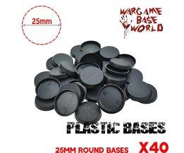 Plastic Ronde bases voor Gaming Miniaturen en andere wargames 40 STKS 25mm