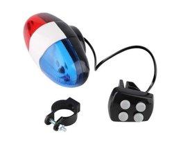 Fiets Fietsen 4 Sounds 6 LED Politieauto Sirene Elektrische Horn Bell