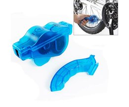 Blauw Draagbare Fiets Chain Cleaner, Bike Schoon Machine Borstels Scrubber Wash Tool, Mountain Fietsen Cleaning Kit Buitensporten