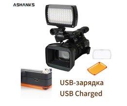 ASHANKS LED Video Licht op Camera Foto Verlichting Bollen Hotshoe LED Lamp Licht voor Camcorder DSLR Bruiloft Fotografische Verlichting