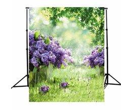 3x5ft Vinyl Fotografie Achtergrond Lente Outdoor Bloemen Fotografische Achtergronden Voor Studio Foto Props Doek 1x1.5 m