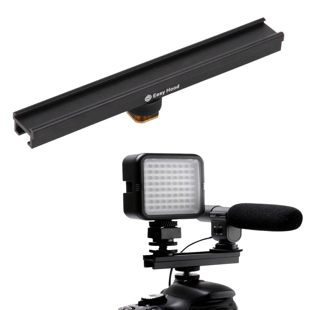 20 cm 8 ''cameracold shoe extension rail beugel bar voor flash led video licht microfoon