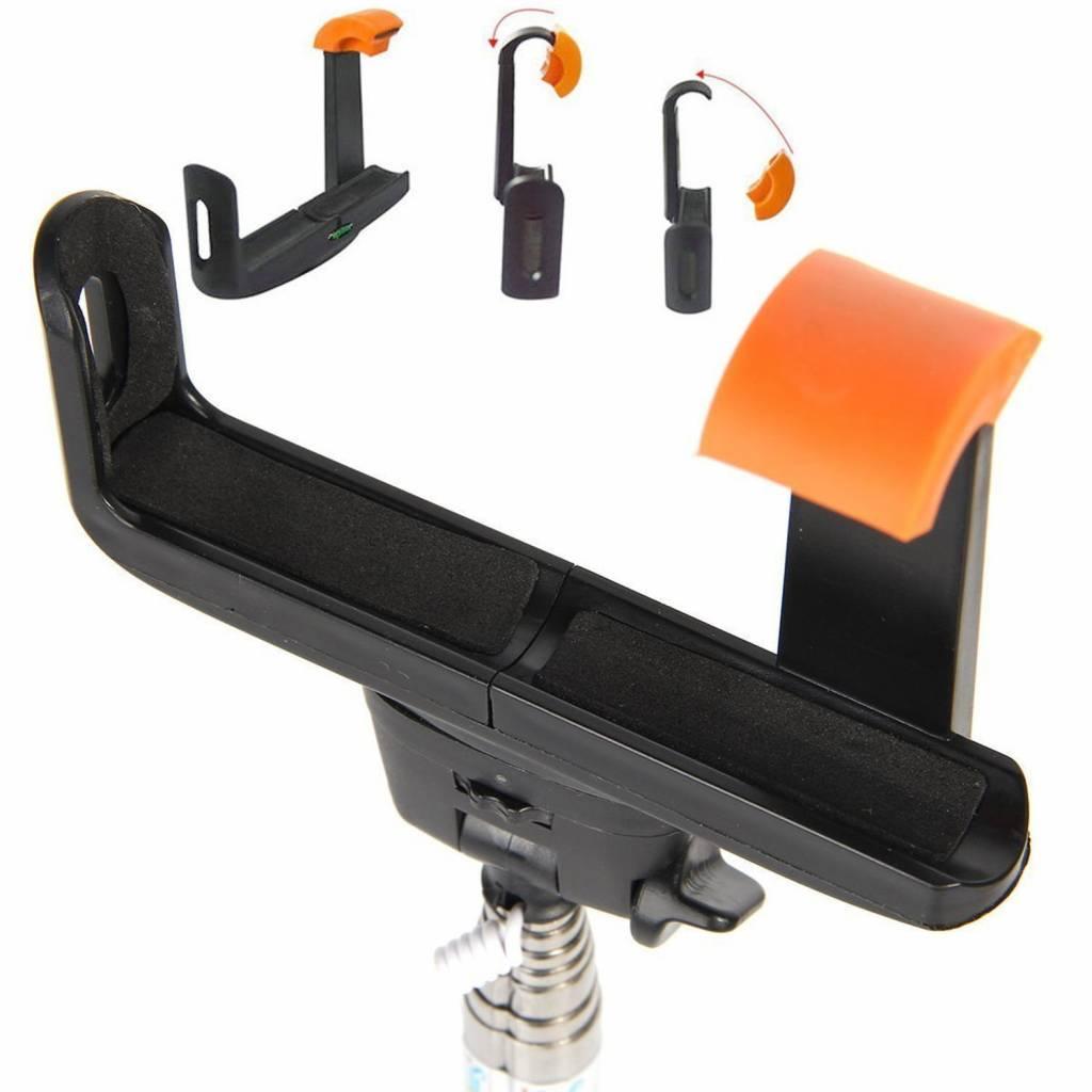Besegad Universele Mobiele Telefoon Camera Selfie Stick Pole Holder Beugel Monopod Klem Clip Accesso