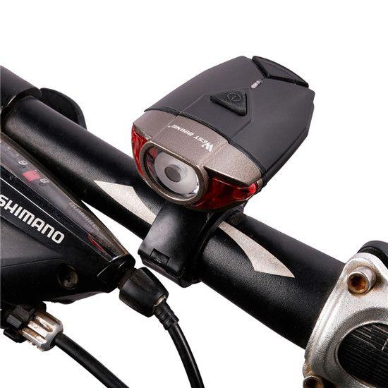 WEST FIETSEN Waterdicht Fietshelm Licht USB Oplaadbare Fietsstuur Lichten Veiligheid Racefiets Mountain Fietsen Front Light