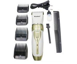 Kemei oplaadbare elektrische tondeuse professionele tondeuse voor mannen en vrouwen verstelbare salon clipper